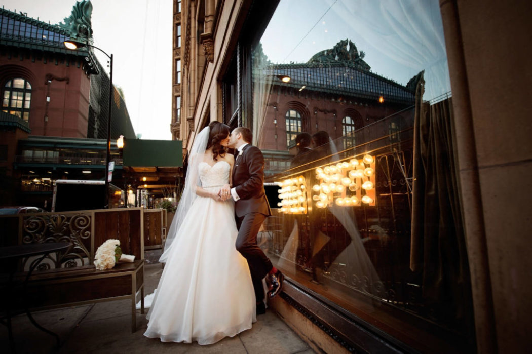 Jewish Wedding with Classic Ivory-and-Gold Décor in Chicago