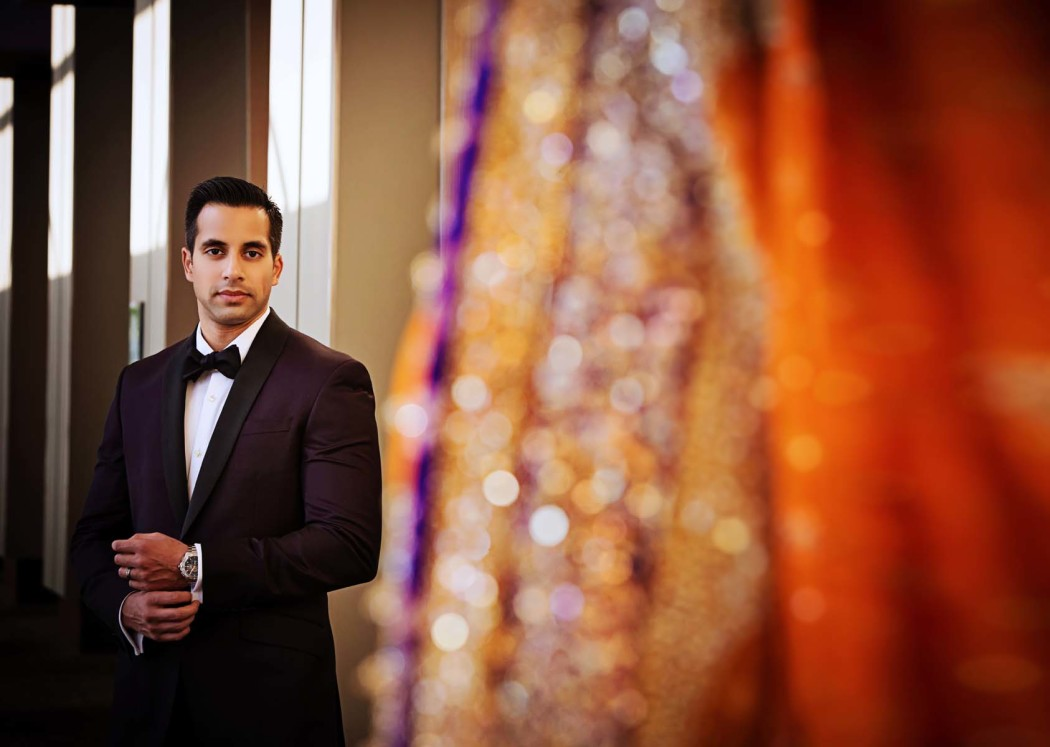 Bride and Groom First Look_Zen Mustafa_South Asian Wedding_Tom Ford_Carasco Photo_DSC_8199