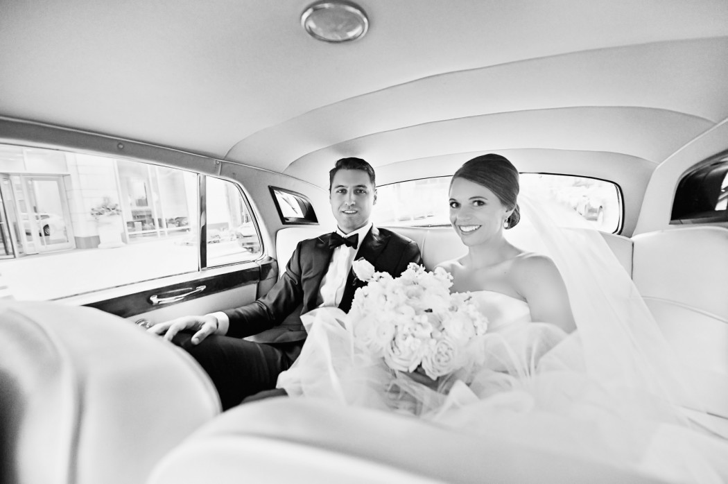 Carasco Photo_Bride and Groom_Rolls Royce_Black and White_Vera Wang_.jpg copy copy