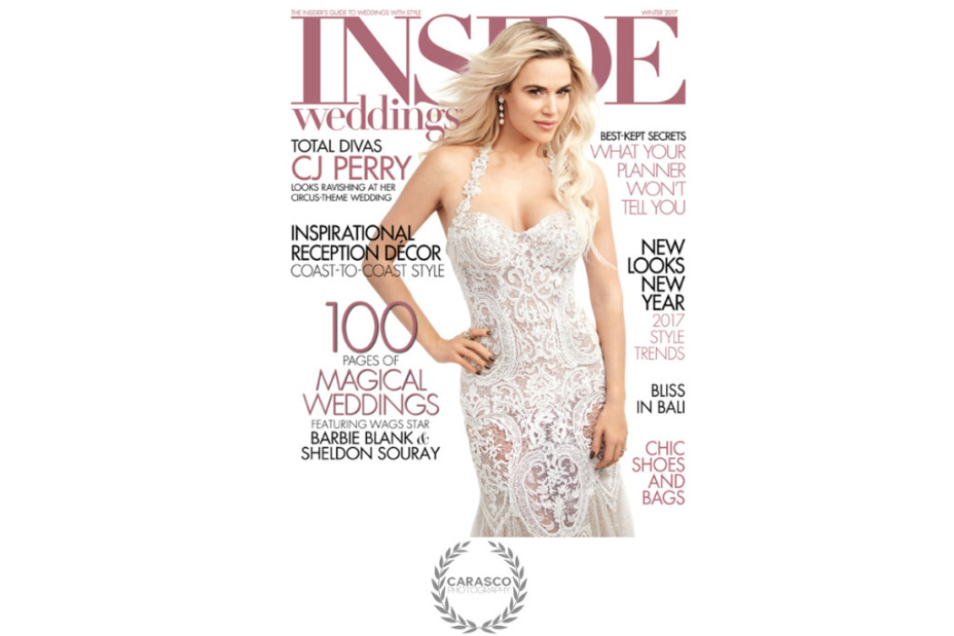 Lauren and Walker featured in Winter Issue of Inside Weddings